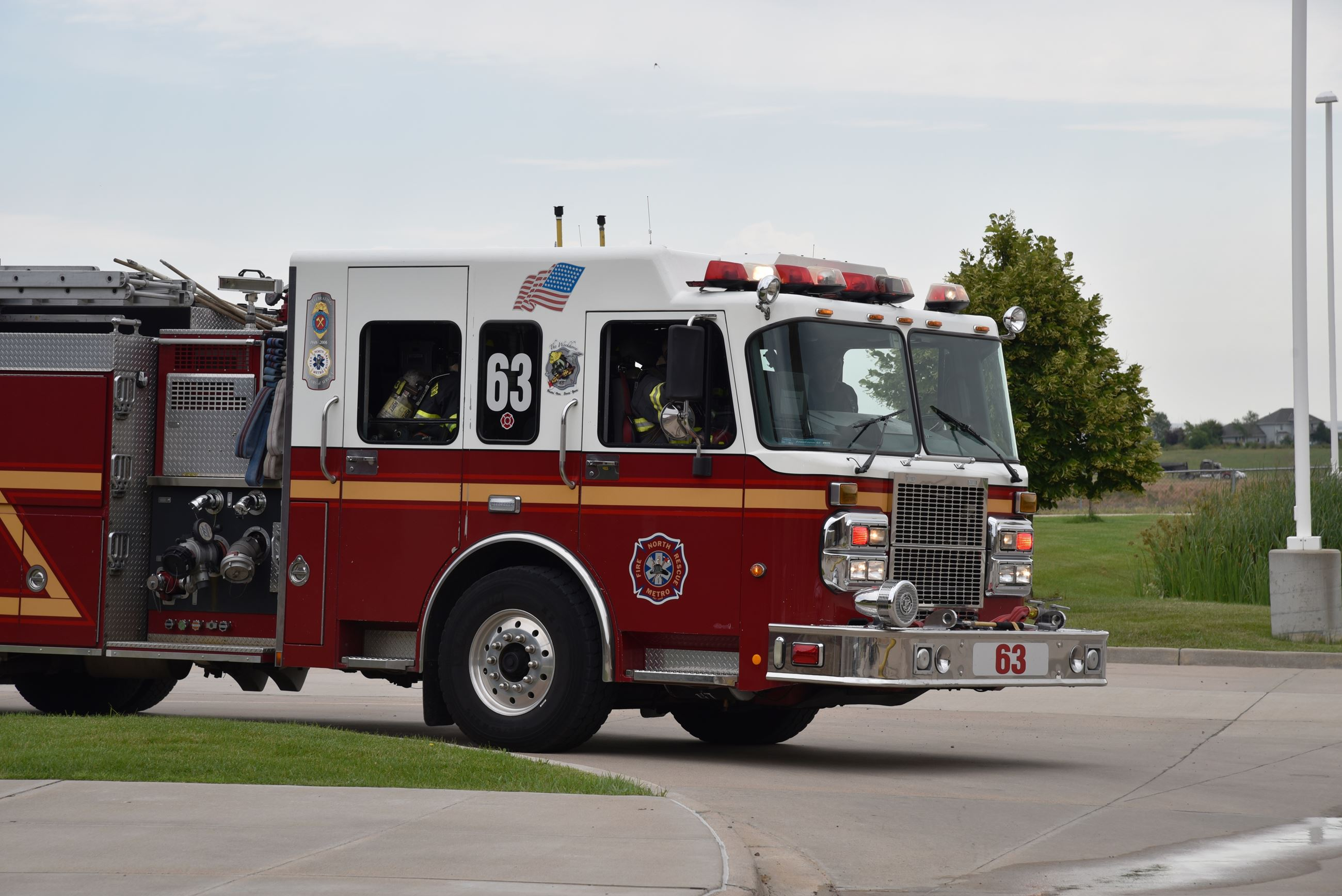 Engine 63 Arriving