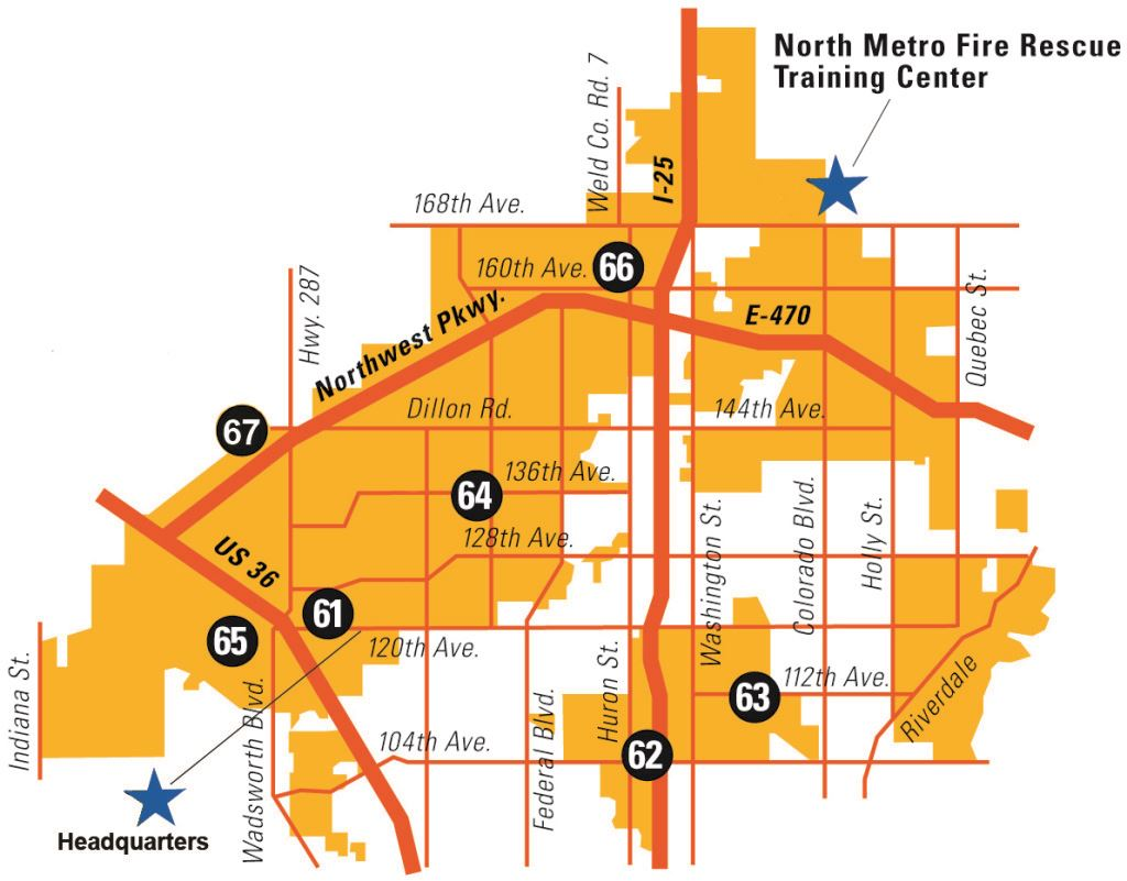 North Metro Fire Rescue Map