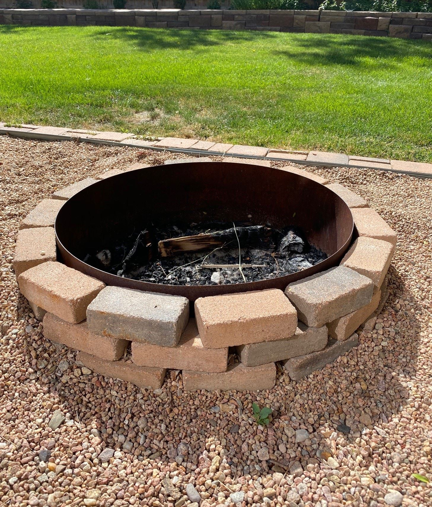 outdoor fire pit in ground