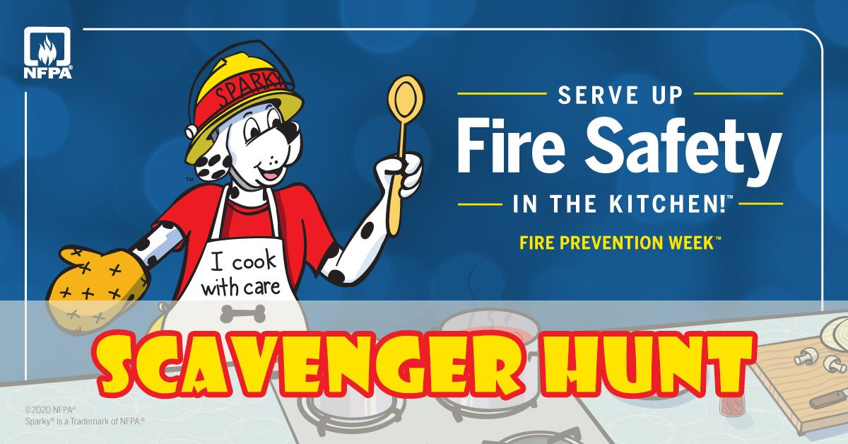 Serve Up Fire Safety in the Kitchen with Sparky the fire safety dog cooking in the kitchen